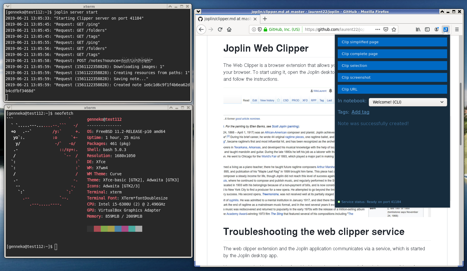 Web Clipper runs on FreeBSD